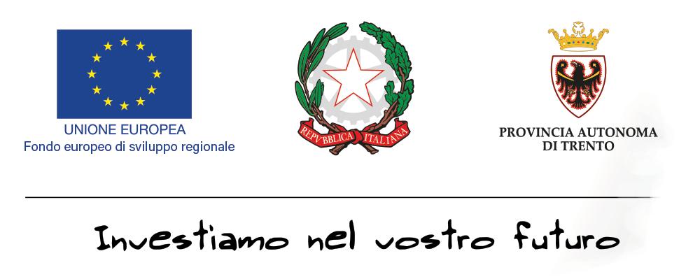 loghi partners istituzionali: unione europea, repubblica italiana, provincia autonoma di Trento